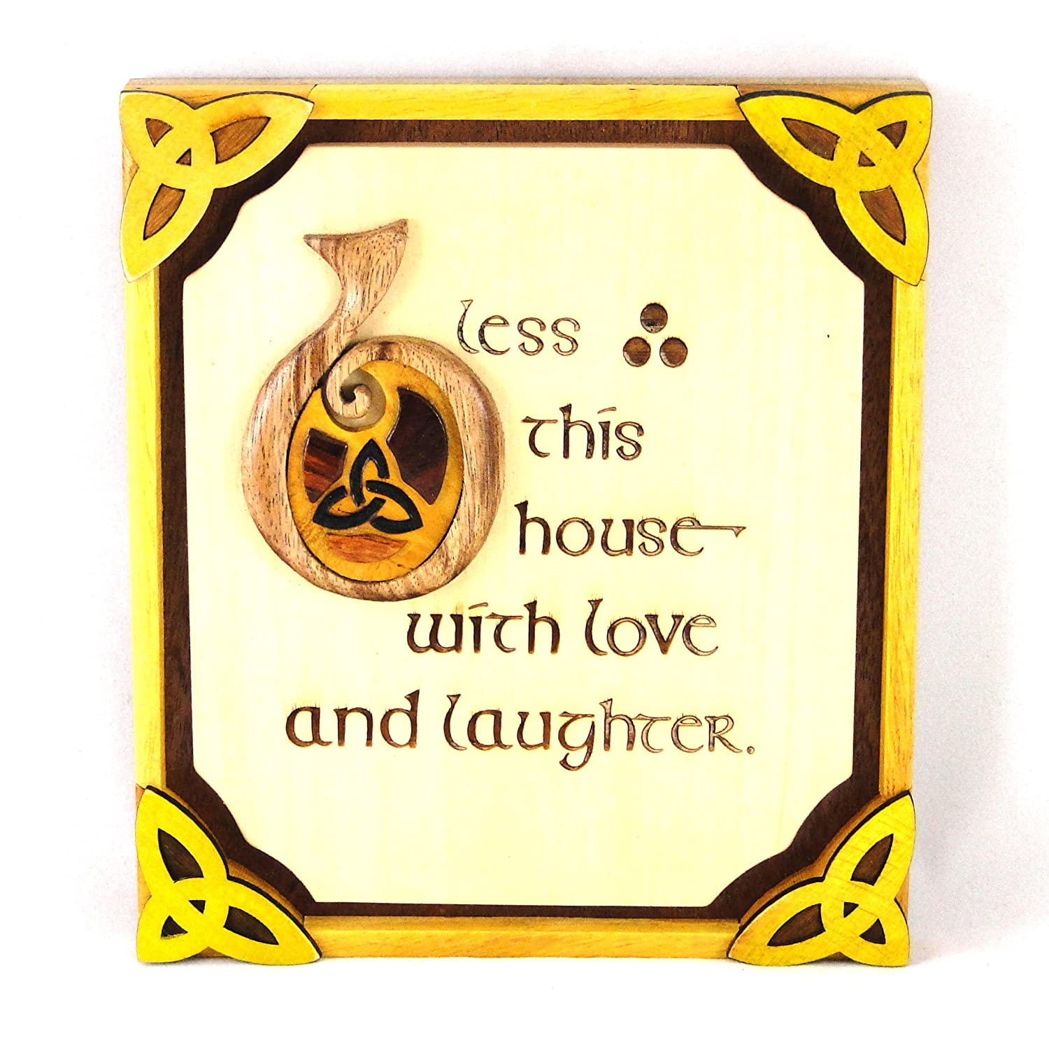 Amazon.com: Wooden Irish Bless This House Plaque With Love And ...