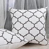 Bridgeso Throw Pillow Covers White Cotton Linen