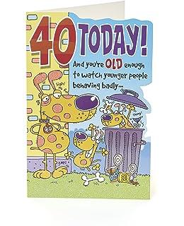 40th Birthday Card Funny