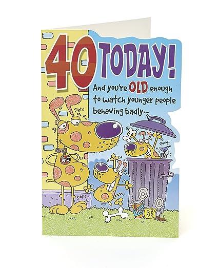 Hanson 328460-0-1 - Tarjeta de felicitación de 40 cumpleaños ...