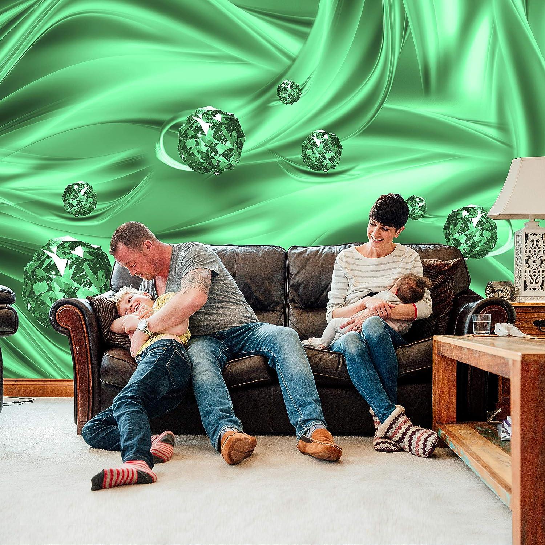 Wandmotiv24 Fototapete Fototapete Fototapete Gelb Kugeln Tuch abstrakt 3D wellen Seide M1957 XL 350 x 245 cm - 7 Teile Wandbild - Motivtapete B07KLT8ZGX Wandtattoos & Wandbilder a9a441