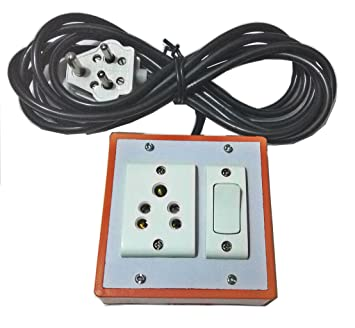 SRElectricals Spike Buster Electrical Extension Board 6Amp With 1 Switch on