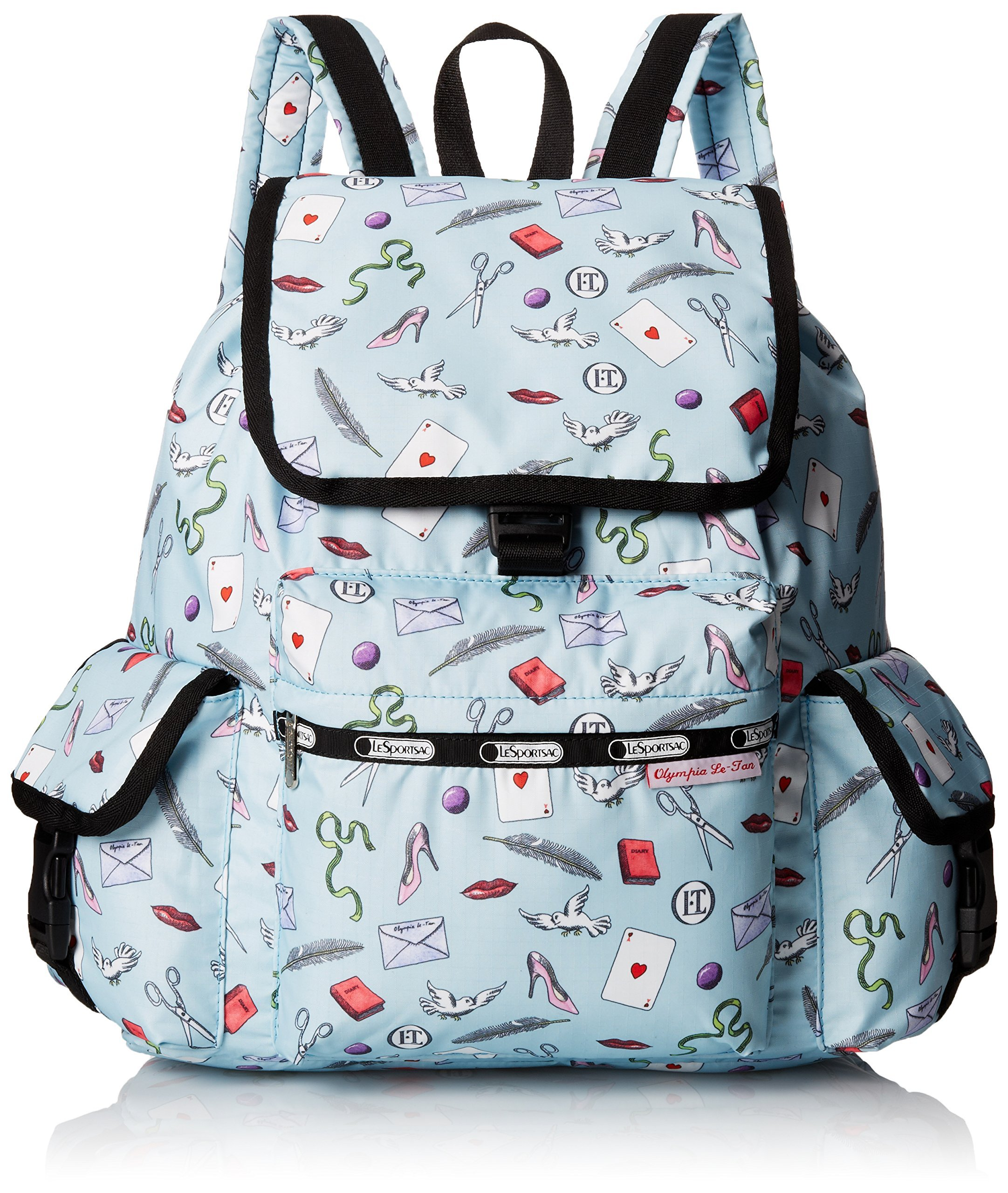 LeSportsac Voyager Backpack, Love Letters Blue, One Size