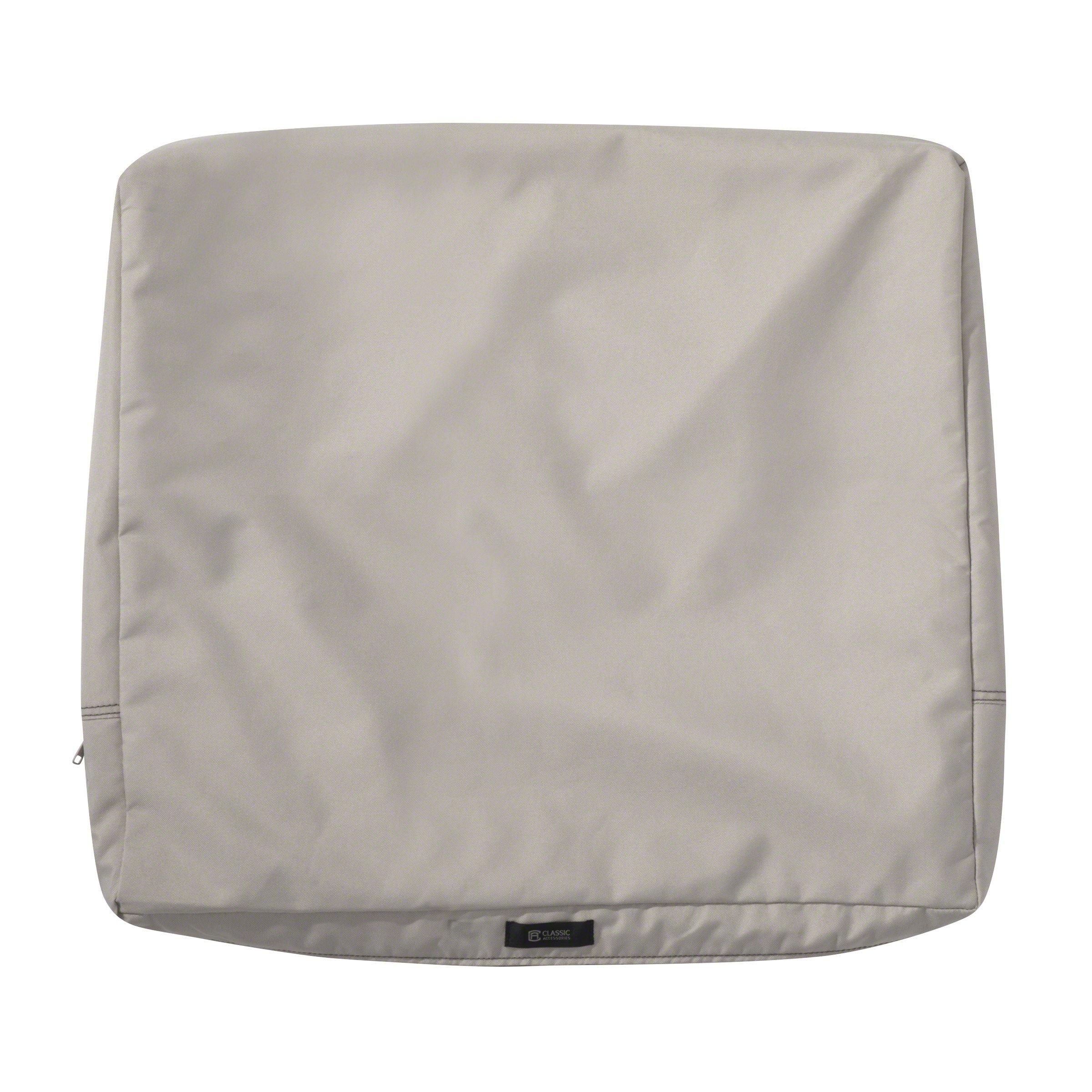 Classic Accessories 60-394-016401-RT Ravenna Cushion Slip Cover, 25'' H x 22'' W x 4'' T, Mushroom