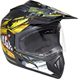 Vega Off Road D/V Fighter Dull Black Neon Yellow Helmet, M
