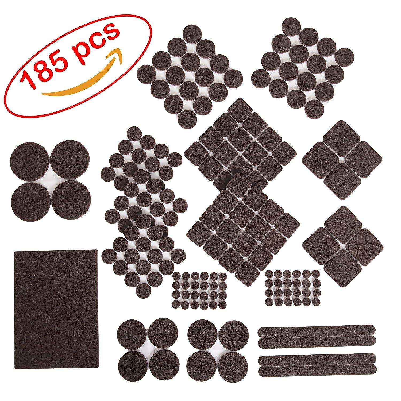 Furniture Felt Pads 185 pcs pack Premium Felt and Heavy Duty