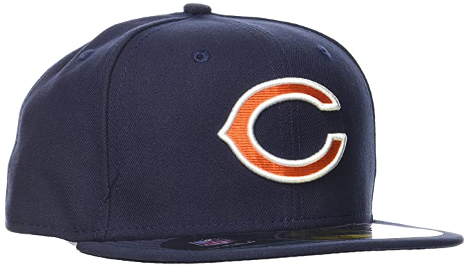 Amazon.com   NFL Mens Chicago Bears On Field 5950 Navy Game Cap By ... a2884d6a87fd