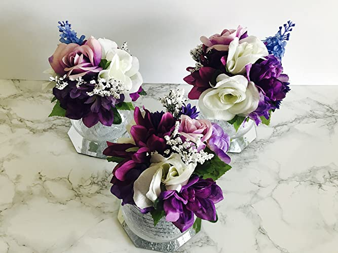 Amazoncom Set Of 3 Wedding Centerpiece With Table Numberbridal