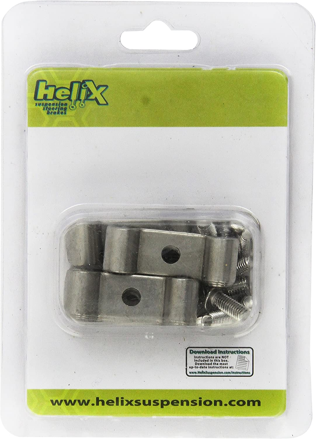 Helix 11099 3//8 Stainless Steel Double Line Clamp 12 Pack
