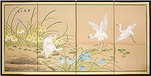 "Oriental Furniture 36"" Birds on the Pond"