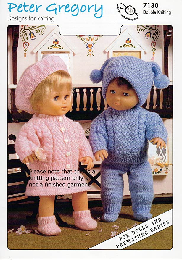 Double Knitting Pattern For Boys Girls Dolls Outfit Premature Babies