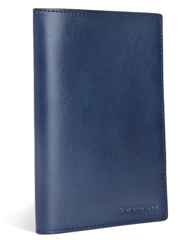 Kasper Maison イタリアンレザー パスポートケース スキミング防止 B0773YQT2M ブルー ブルー