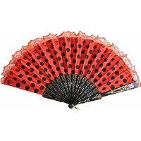 La Señorita Ventaglio Flamenco vestito spagnolo rossa nero