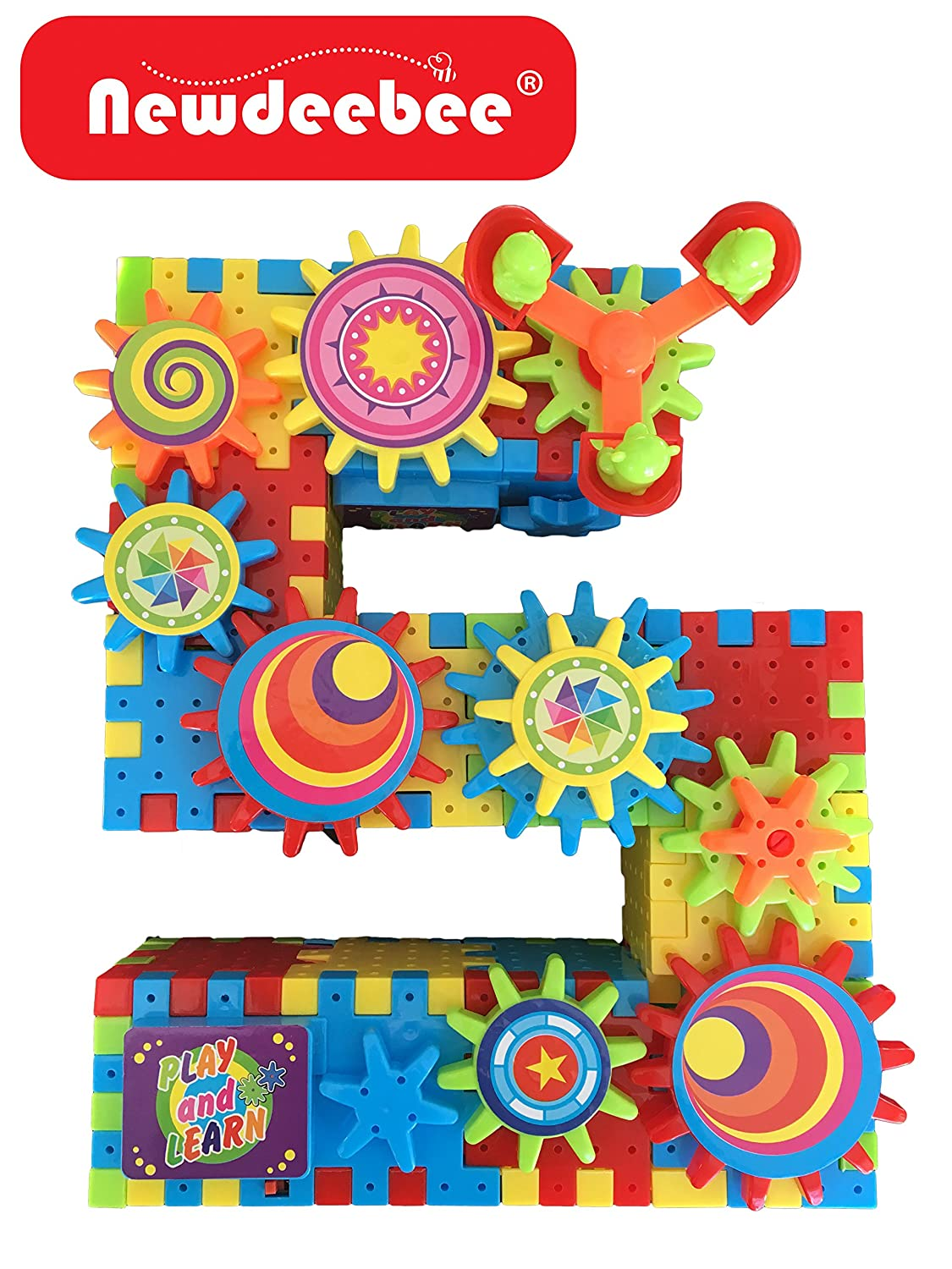 Newdeebee - 3D Interlocking Learning Gears (Special Edition) - gear building toy set Review