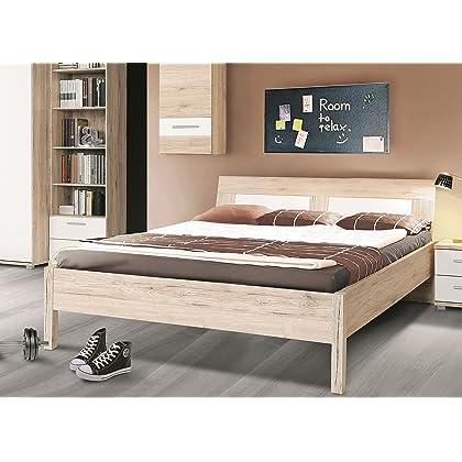 Bett 140 X 200 Cm Sandeiche Weiss Gunstig Online Kaufen