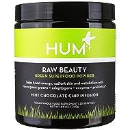 HUM Nutrition - Raw Beauty Chocolate Mint - Raw Greens & Superfoods Powder, 240 grams
