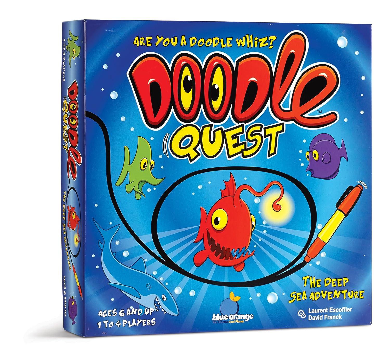 Blue Orange Doodle Quest Game