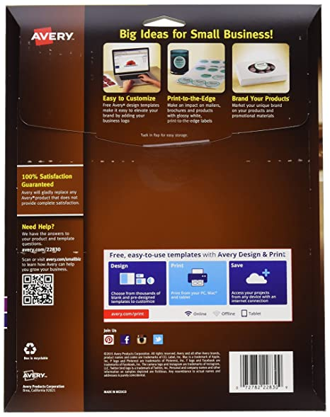 Amazon Avery Print To The Edge True Print Glossy Round Labels