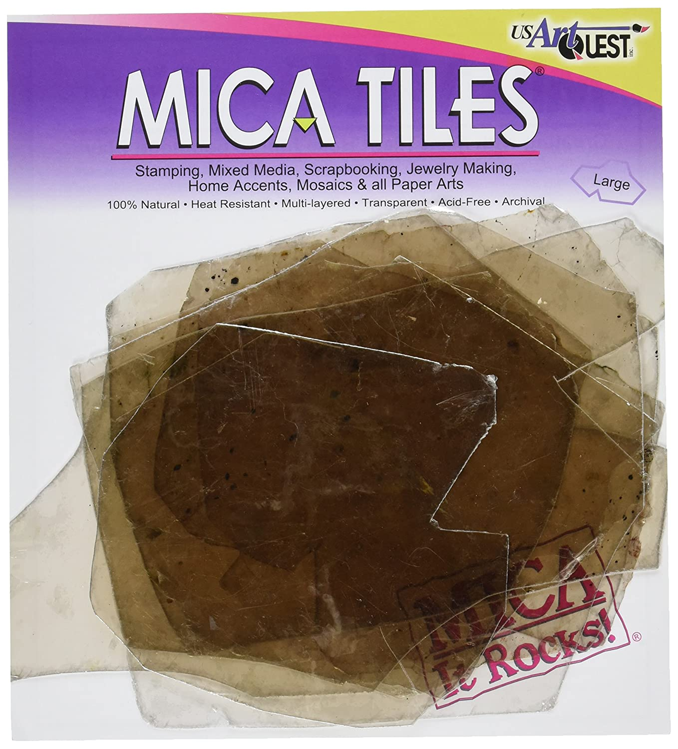 US Artquest Mica Tile Large Pieces 2-Ounce, Approximately 6-Inch-by-8-Inch Notions - In Network PFX104