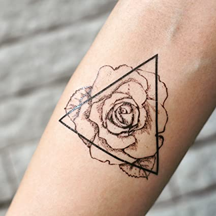 Tatuaje Temporal de Esquema de triángulo rosa (2 Piezas) - www ...
