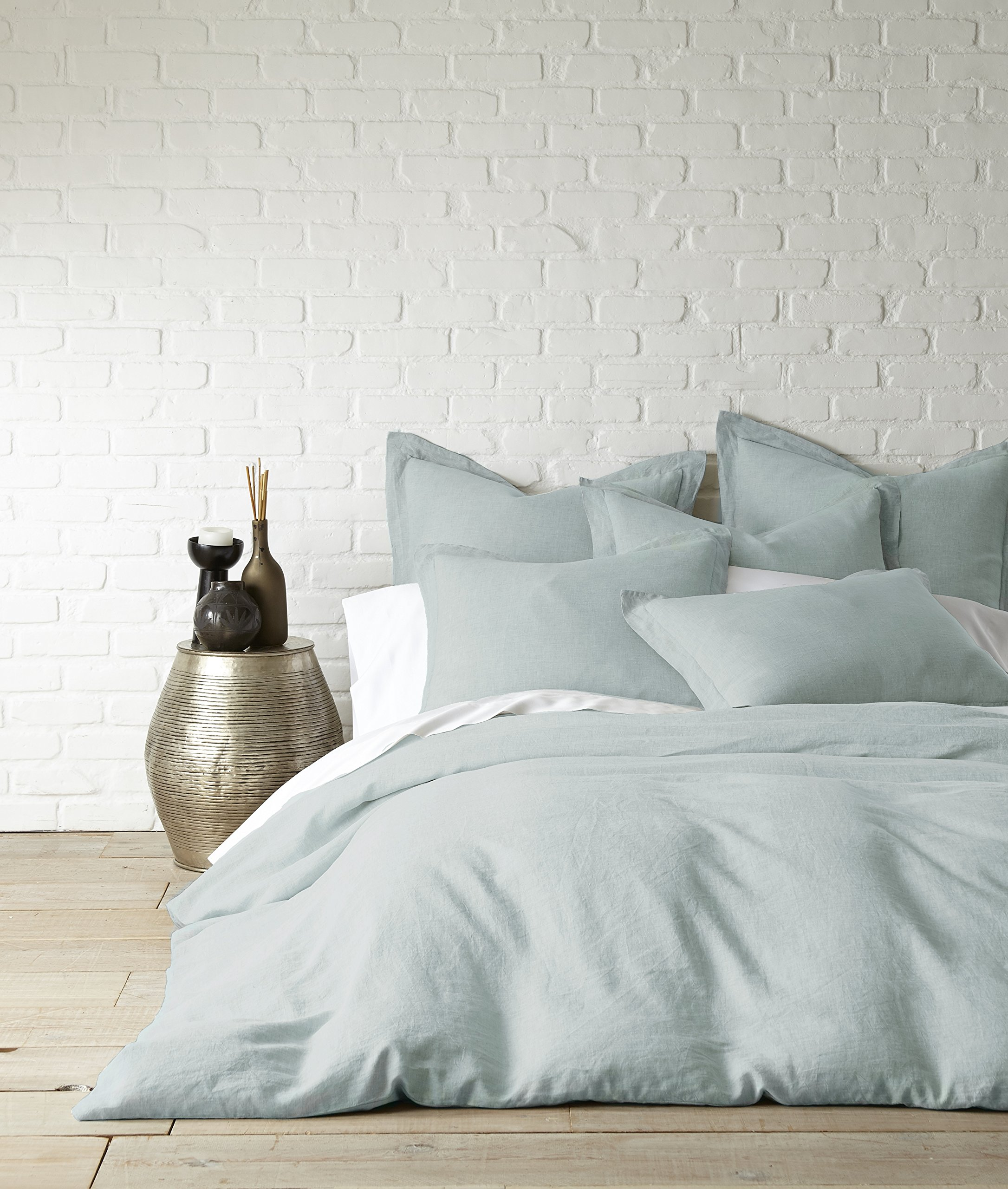 Washed Linen Spa Queen Duvet Cover