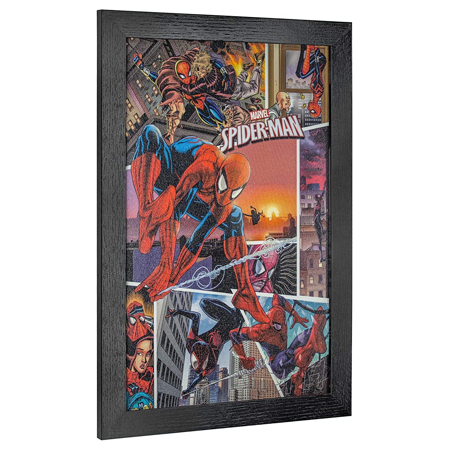good Comic Book Wall Art Part - 13: Amazon.com: Officially Licensed Marvel Comics Spider-Man Spider-Verse Comic  Book Cover Framed Wall Art (19u201d H x 13u201d L): Home u0026 Kitchen