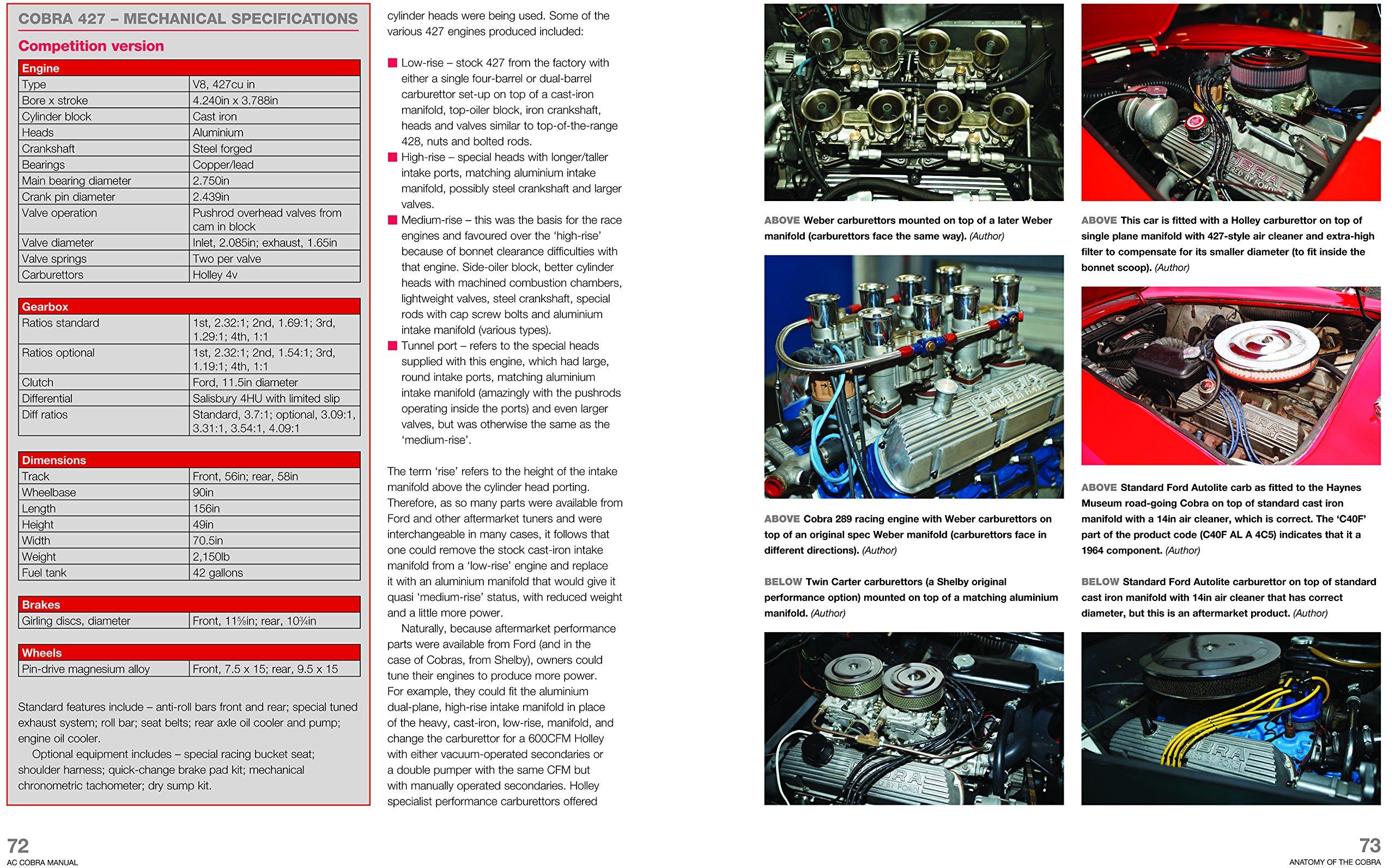 ac shelby cobra 1962 to 1968 all models owners workshop manual rh amazon com Mazda 2.3 Engine Ford Ranger 2.3 Liter Engine