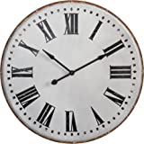 Creative Co-Op DA5704 Chateau Round Metal Wall Clock with Roman Numerals