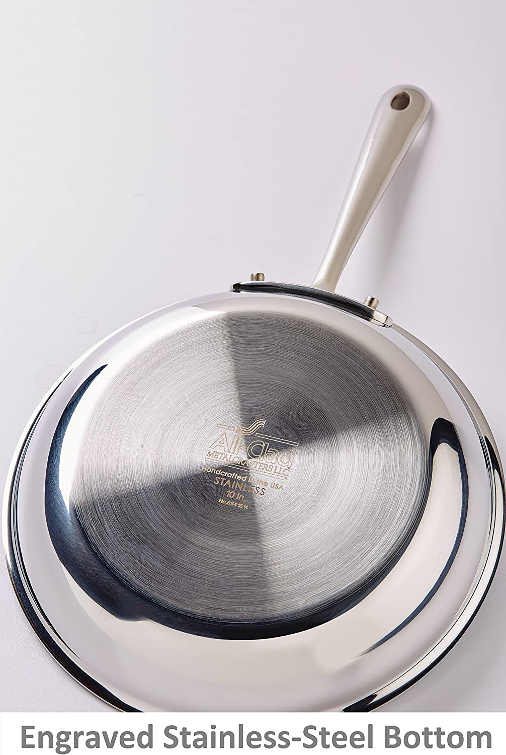 Silver All-Clad 4110 Stainless Steel Tri-Ply Bonded Dishwasher Safe Fry Pan Cookware 10-Inch