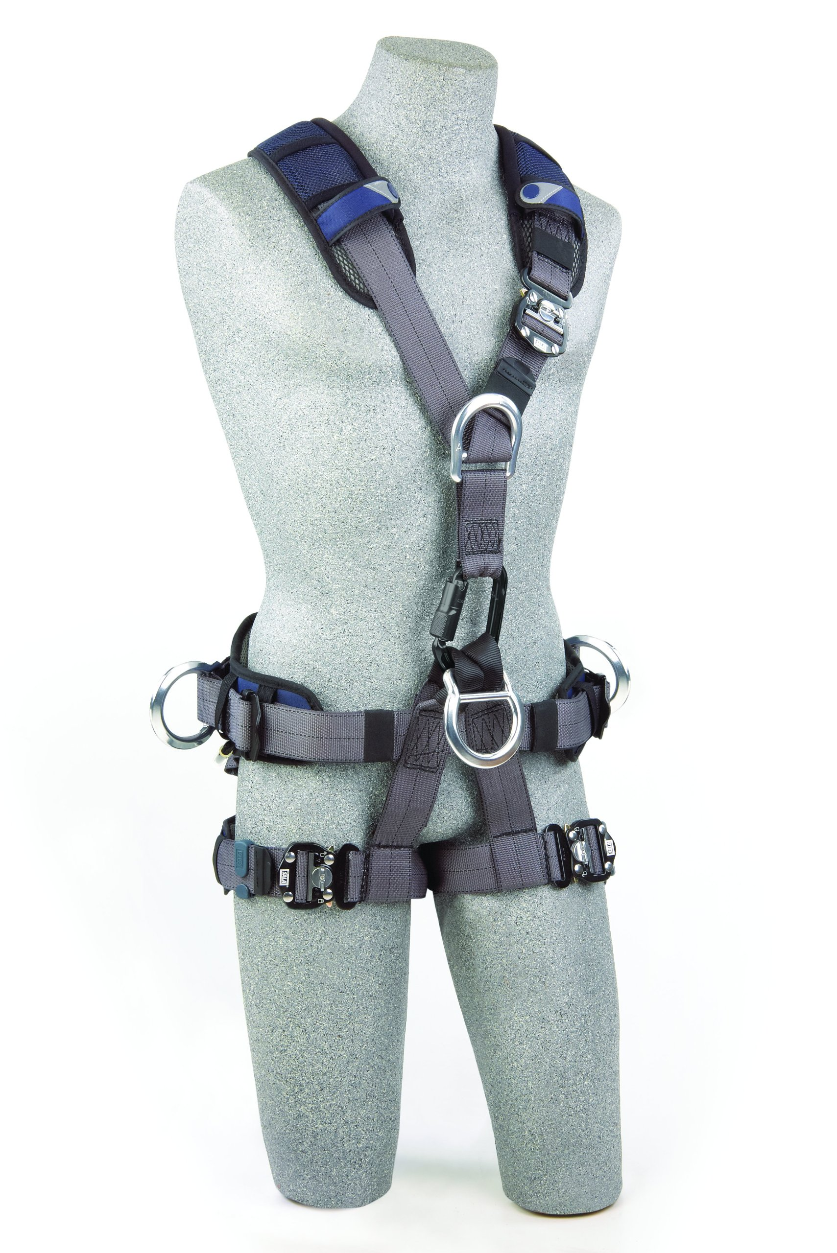 3M DBI-SALA ExoFit NEX 1113346 Full Body Rope Access/Rescue Harness, Alum Back/Front/Suspension D-Rings, Belt w/ Pad/Side D-Rings, Locking QC Leg Straps, Medium, Blue/Grey by 3M Fall Protection Business (Image #3)