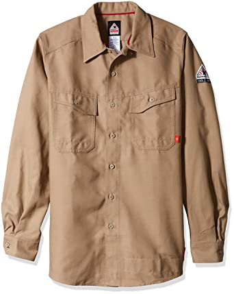 07756bc45b93 Amazon.com  Bulwark Men s Iq Series Endurance Work Shirt  Clothing
