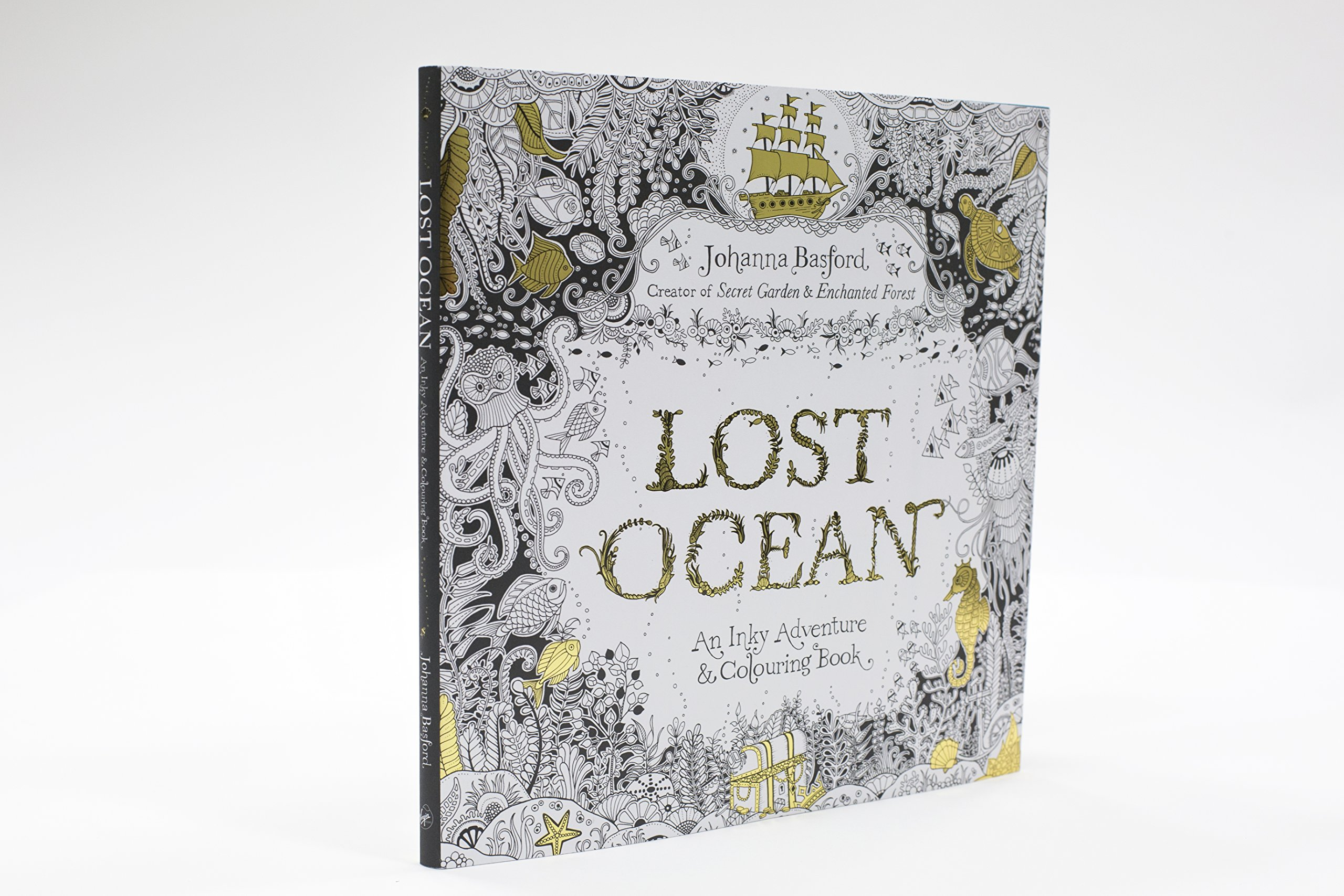 Lost Ocean An Inky Adventure Colouring Book Amazoncouk Johanna Basford 9780753557150 Books
