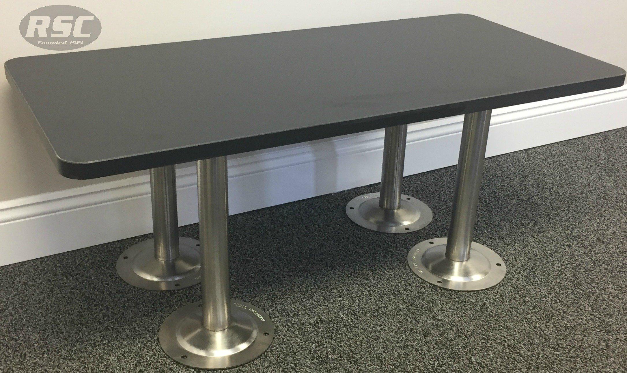 ADA Phenolic Locker Room Bench with #304 Stainless Steel Pedestals - 42'' L x 20'' W x 16.25'' H
