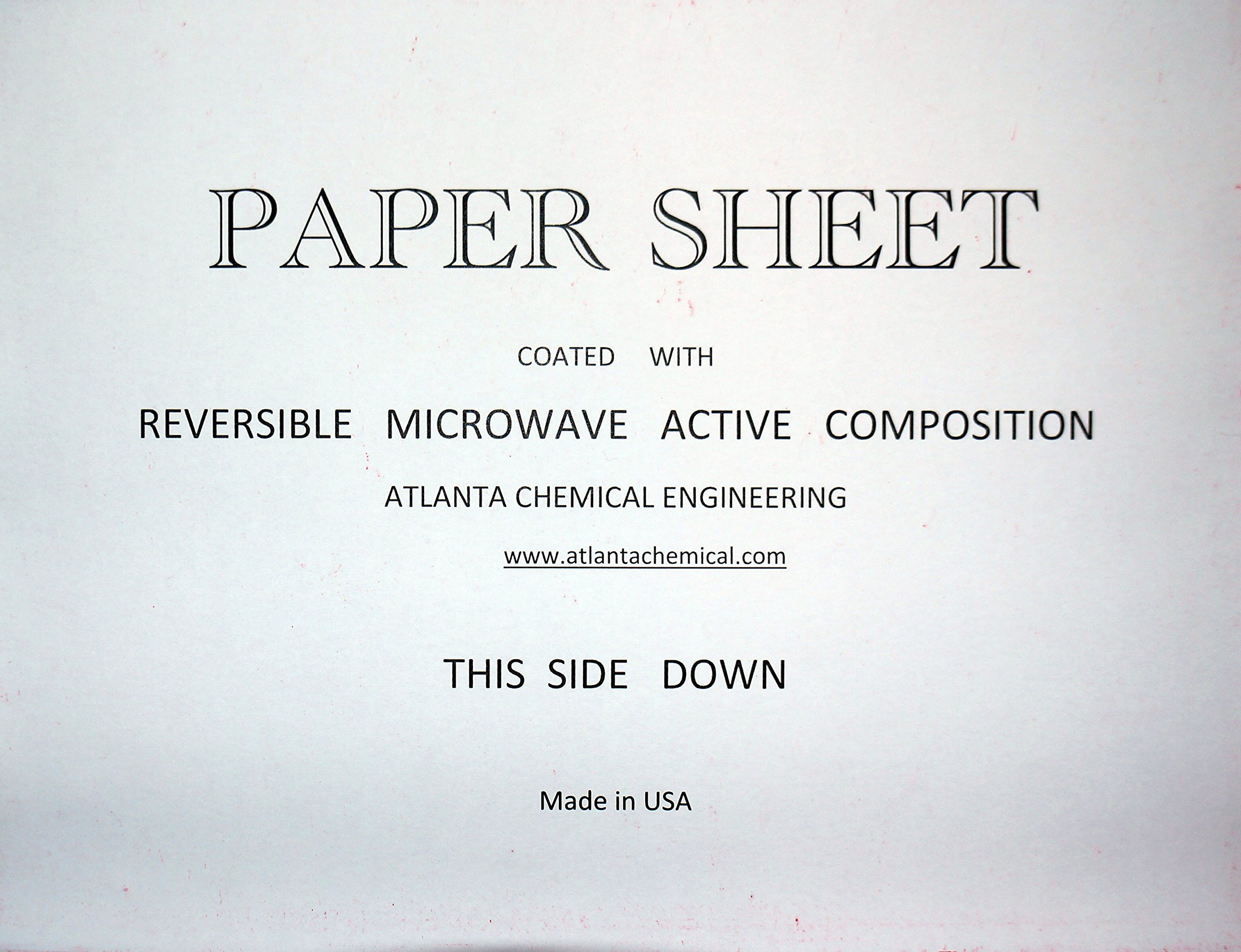 Reversible Microwave Hot Spot Paper