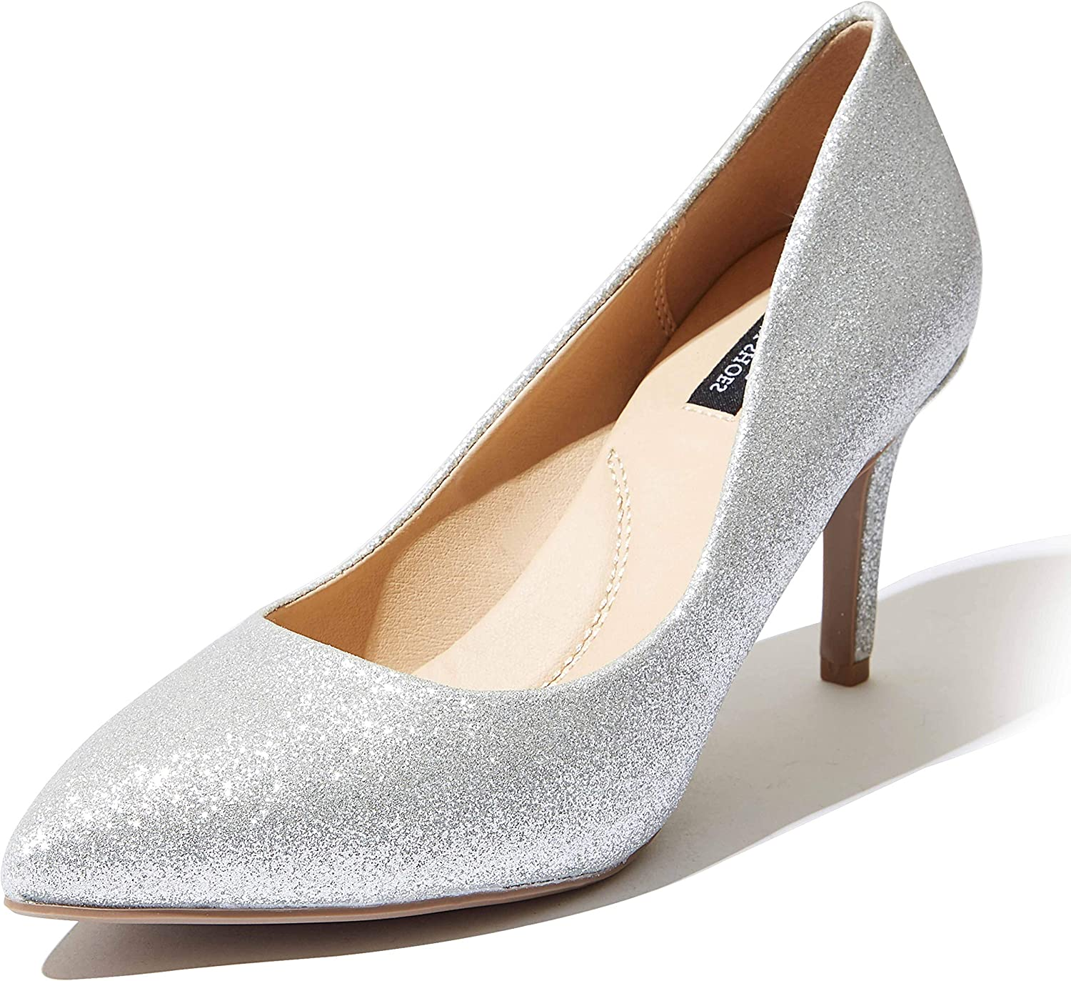 Banquets Ladies Pointed Toe Stilettos Court Shoes Dress Pumps Closed Toe Shoes for Offices Parties Work Clubs