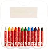 Faber Castell Beeswax Crayons in Storage Case for Kids (12-Count)