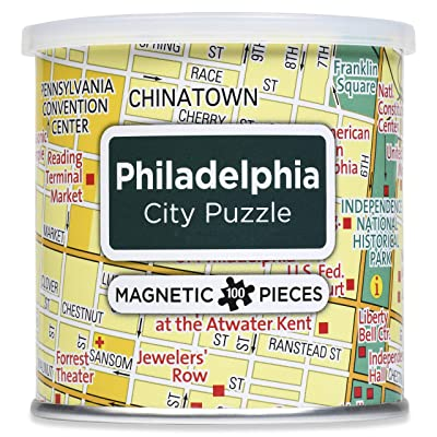 GeoToys 100 Piece Magnetic Puzzle, United States East Coast Cities - Philadelphia: Toys & Games