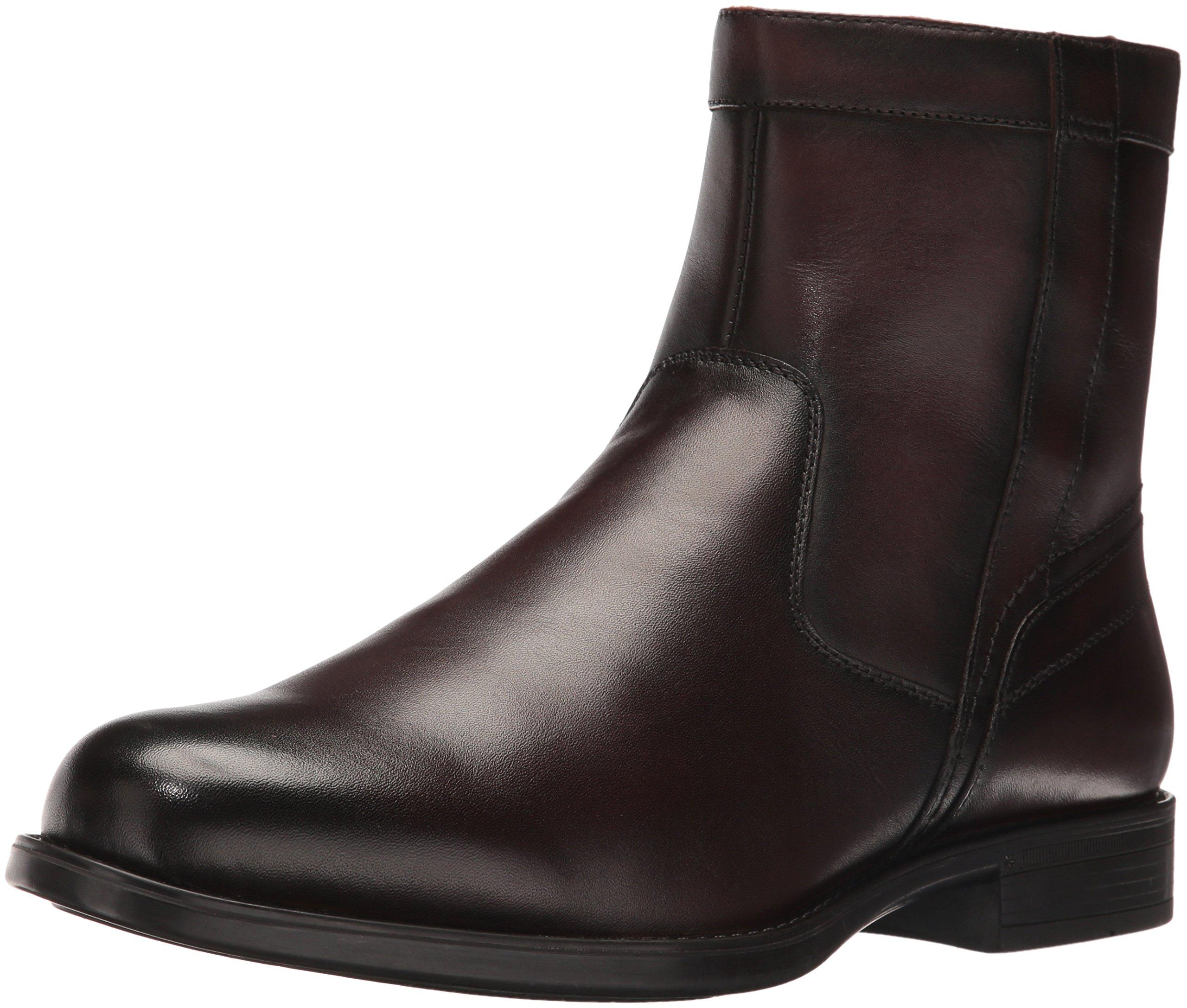 Florsheim Men's Medfield Plain Toe Zip Chelsea Boot, Brown, 10.5 D US