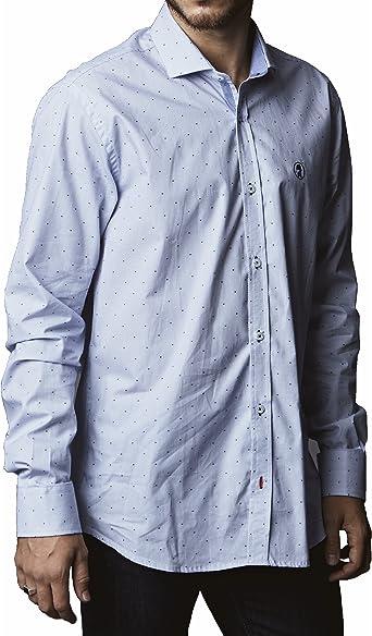 Olliver Abbott CAOA06AZ Camisa de Vestir, Azul, Medium ...