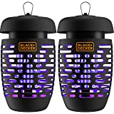 BLACK + DECKER Bug Zapper Electric Lantern with Insect Tray, Cleaning Brush, Light Bulb & Waterproof Design for Indoor & Outd