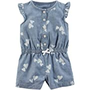 Carter's Baby Girls' Chambray Romper 9 Months