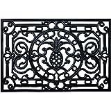 """Calloway Mills 900081830 Pineapple Heritage Rubber Doormat, 18"""" x 30"""""""