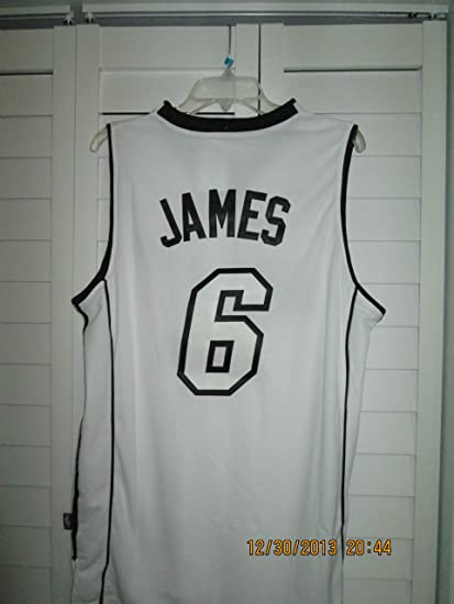 5ed086c9a99 Image Unavailable. Image not available for. Color  LEBRON JAMES  6 Miami  Heat White Hot Jersey
