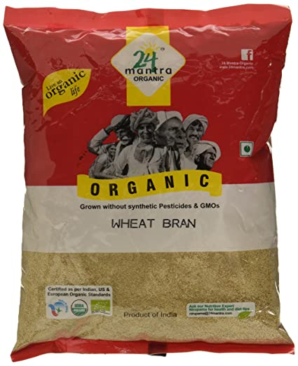 24 Mantra Organic Wheat Bran, 500g