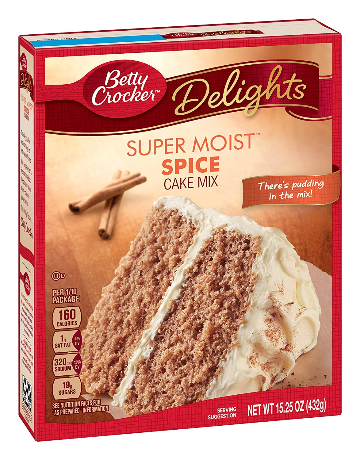 Betty Crocker Super Moist Cake Mix Spice 15.25 oz Box