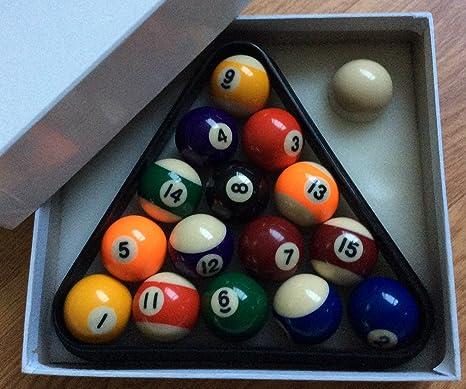 Tamaño pequeño, 41 mm, manchas y rayas bolas de billar y Triángulo ...