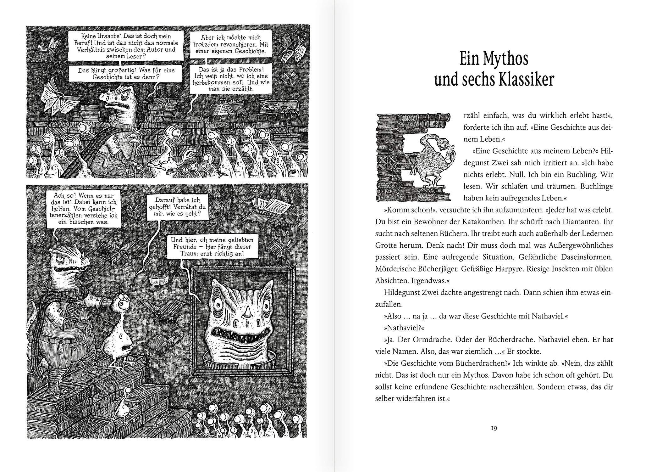 Der Bucherdrache Roman Mit Illustrationen Des Autors