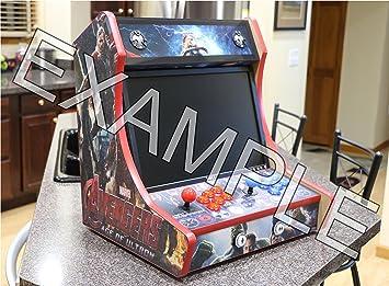 Amazon.com: Table or Bartop Arcade Cabinet - Machine Cut Wood ...