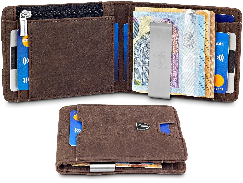 "TRAVANDO ® Wallet Mens with Money Clip ""London"" RFID Blocking Slim Wallet | Credit Card Holder | Travel Wallet | Minimalist Mini Wallet Bifold for Men with Gift Box"