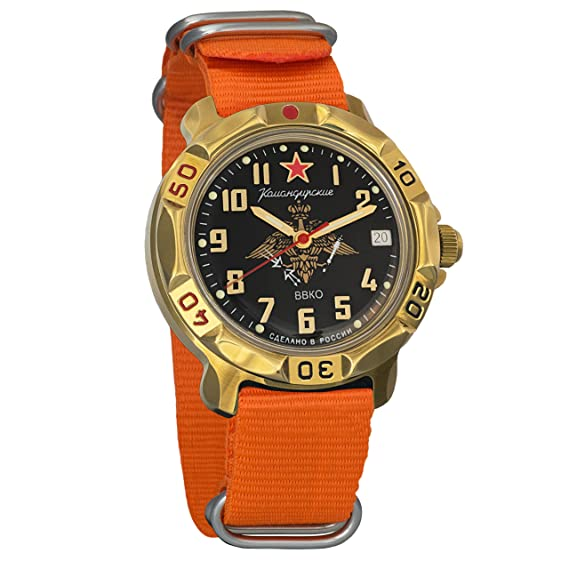 Vostok Komandirskie 819632 - Reloj de pulsera mecánico militar para hombre: Amazon.es: Relojes